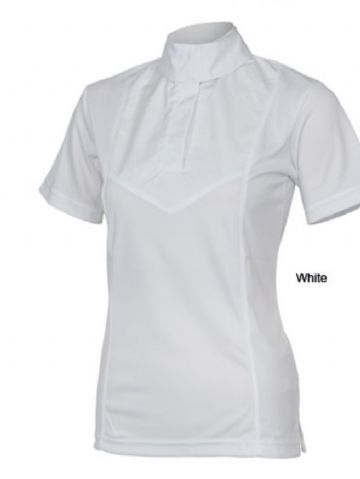 SHIRES WHITE SHORT SLEEVE STOCK SHIRT